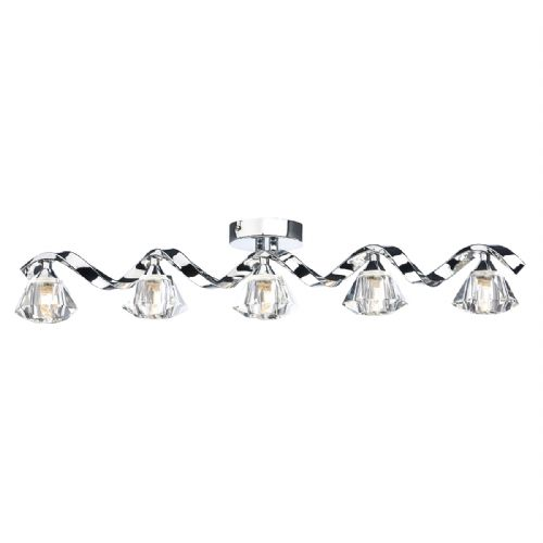 Ancona 5 Light Bar Flush Polished Chrome ANC0550
